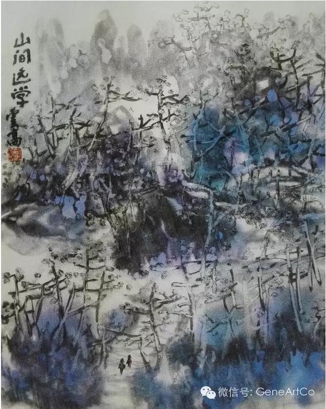 H.H.第三世多杰羌佛作品欣賞:山間遠學